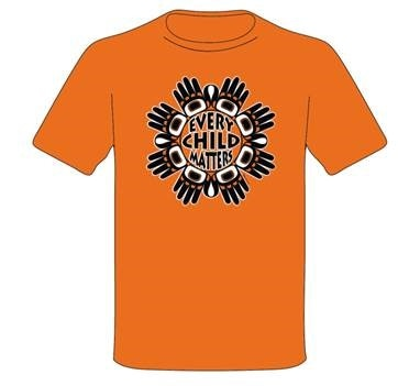 orange shirt with every child matters slogan and design