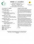 Parent Week at a Glance - Week of May 8-12
