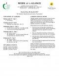 Parent Week at a Glance - Week of June 19-23