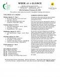 Parent Week at a Glance - Week of Jan 22-26
