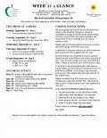 Parent Week at a Glance - Week of September 10-14