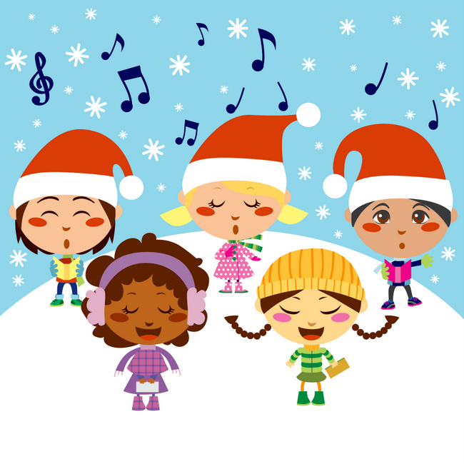 illustration of children singing carols
