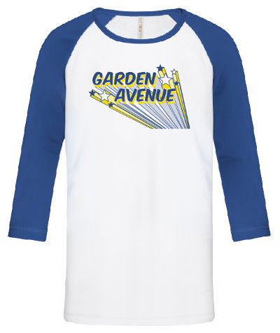 shirt with Garden Avenue name in stars