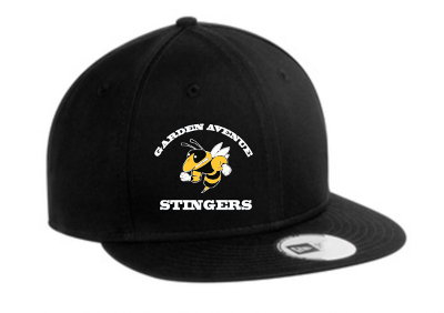 black cap with Garden Avenue stingers logo and name