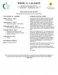 Parent Week at a Glance - Week of June 26-30