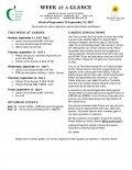 Parent Week at a Glance - Week of Sept 11-15