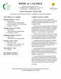 Parent Week at a Glance - Week of February 26 - March 2