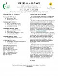 Parent Week at a Glance - Week of April 9-13