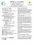 Parent Week at a Glance - Week of September 17-21
